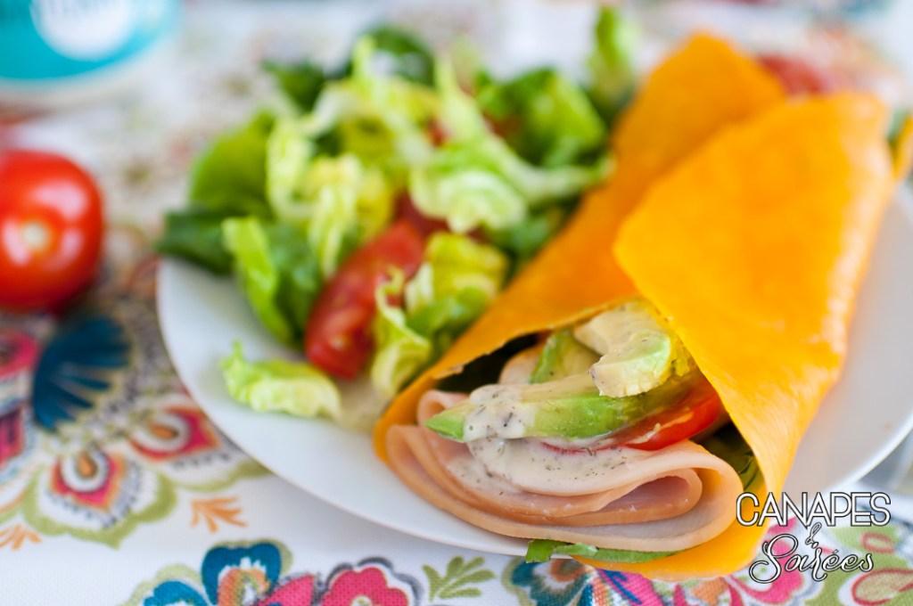 Cheddar Low Carb Folios Sandwich Wraps