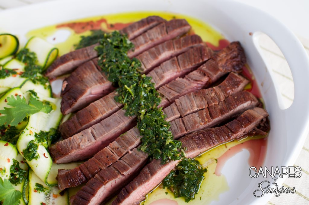 Seared Flank Steak with Chimichurri