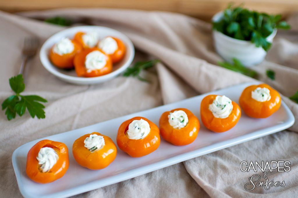 Herbed Goat Cheese Stuffed Peppadew Goldew Pepper