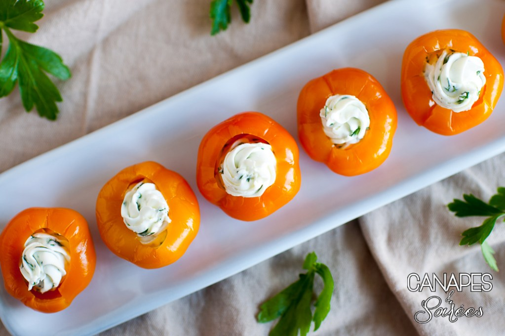 Herbed Goat Cheese Stuffed Peppadew Goldew Peppers