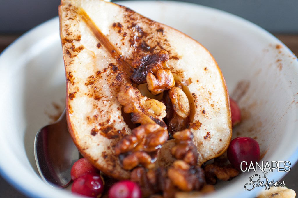 Roasted Red Pears with Cinnamon Walnuts-2