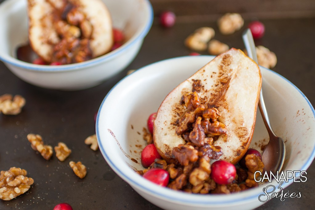 Roasted Red Pears with Cinnamon Walnuts – Whole30