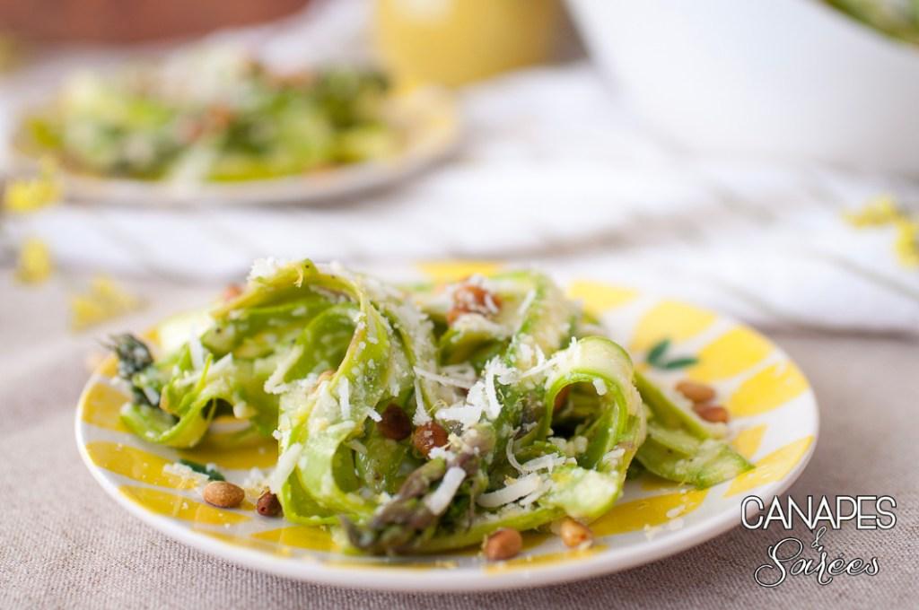 Plated Shaved Asparagus Salad