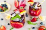 Boozy Berry Basil Lemonade