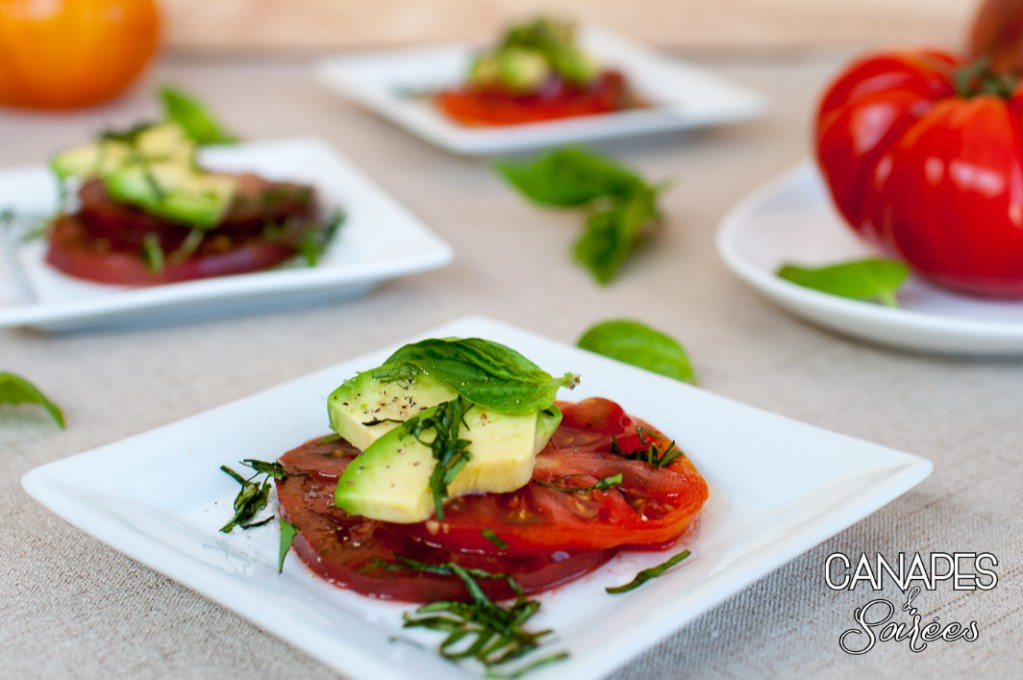 Heirloom Tomato Avocado Salad Small Plate