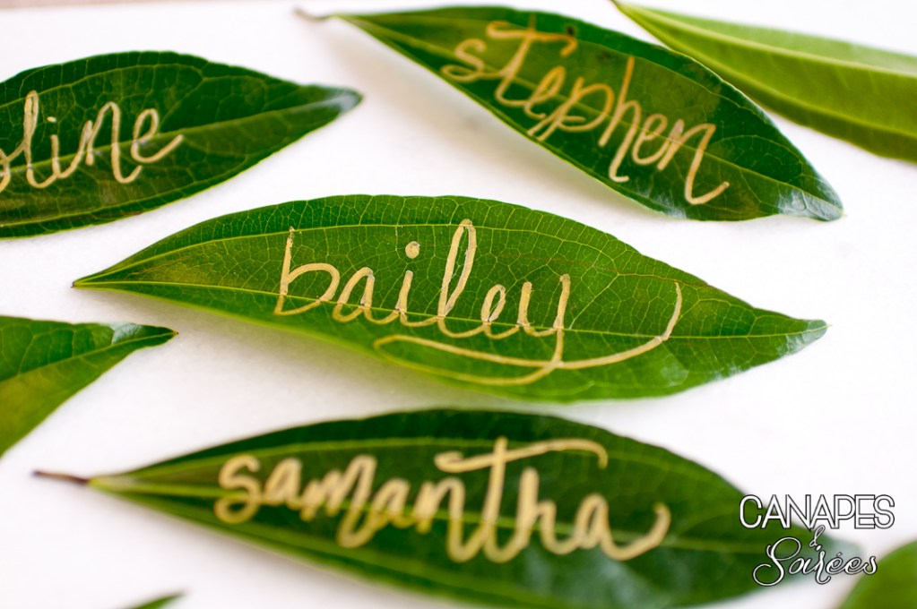 Easy Leaf Place Cards