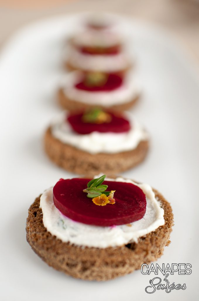 Lemon Thyme Beet Goat Cheese Canape-1