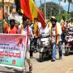 KARAVE - stir against NDA bjp govt about petrol and diesel RS hike