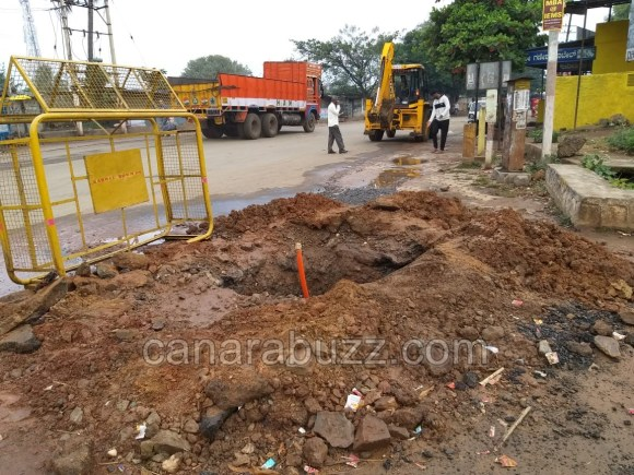 AIRTEL 4g work ,water supply pipeline damage,haliyal