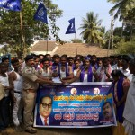 dalita sangarsha samiti - sambrani are bettale padayatre