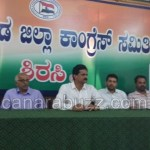 The statement against RV Deshpande has been stated by District Congress President Bhimanna Naik.