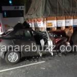 The municipal Health Inspector, Sunil Gawadi, a car accident, and his wife Sharda Gawadi's death at the spot,