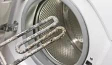 Resistencia de lavadora con incrustaciones de cal