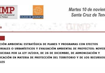 """Seminario UIMP """"Evaluación ambiental de planes y proyectos"""""""