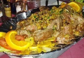 filete provenzal en restaurante marino chico