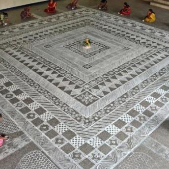 Kolam durante Pongal