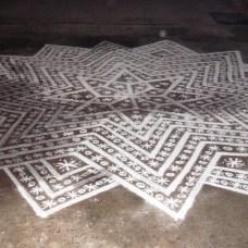 Kolam en forma de Estrella durante Pongal