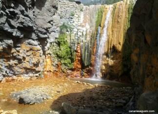 Colorful Waterfall La Palma Canary Islands