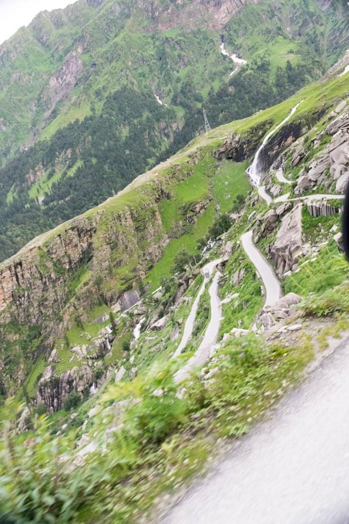Subiendo al Rohtang Pass
