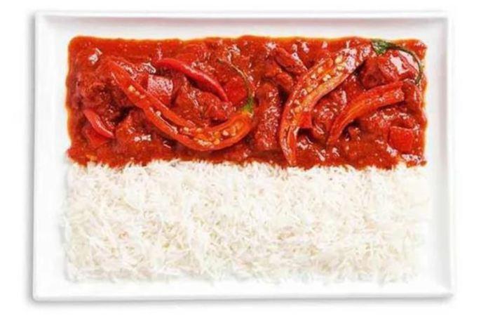 Bandera Indonesia - Sambal - Curry y Arroz