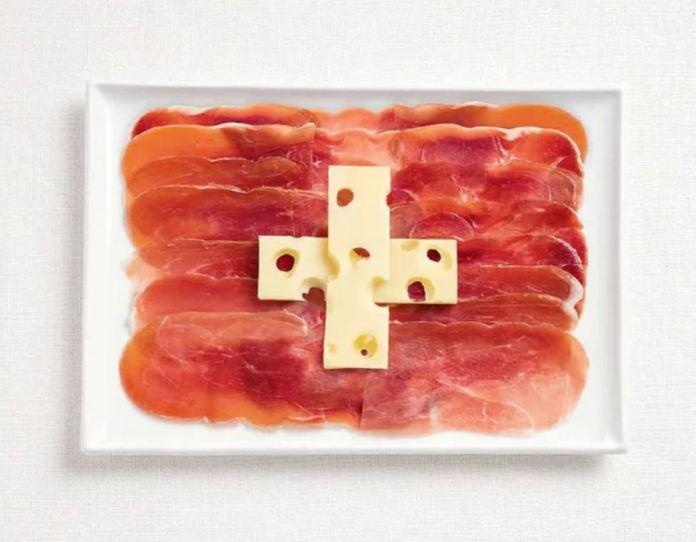 Bandera Suiza - Charcuteria y Queso Emmental
