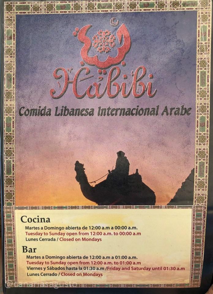Carta de Habibi en Los Cristianos