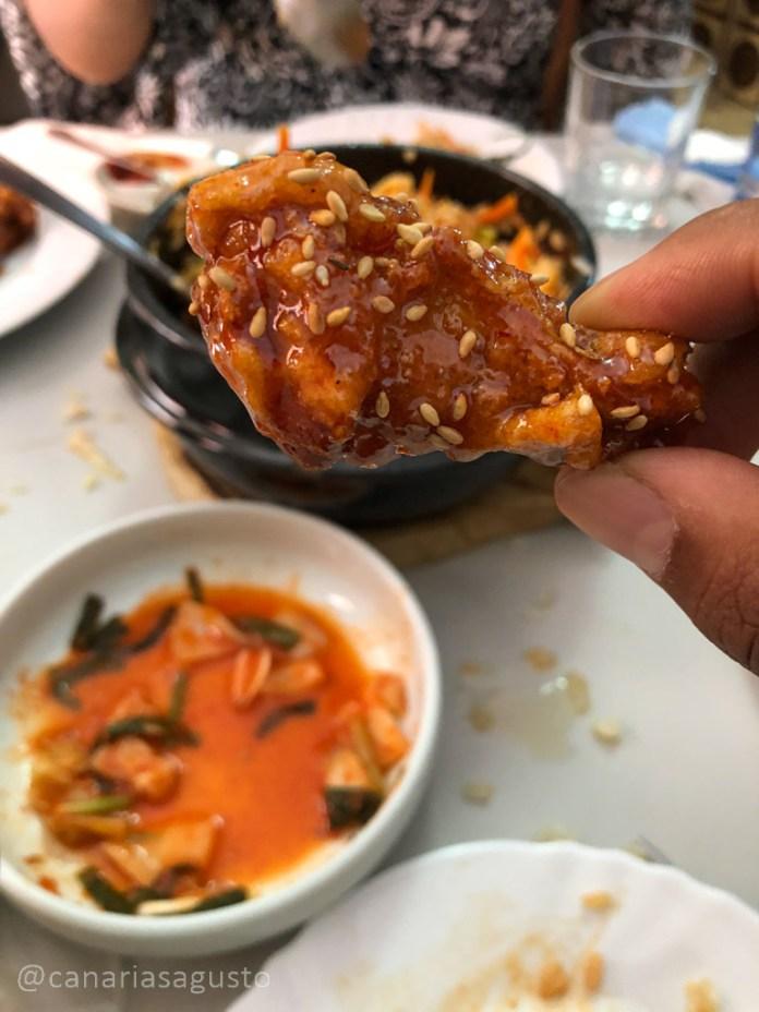 alitas estilo coreano