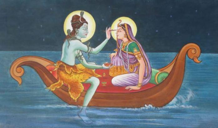 Parvati y Shiva Pescando