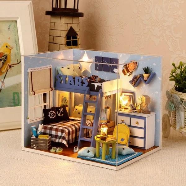 do it yourself en bois maison de poupees miniature kit avec couverture wish