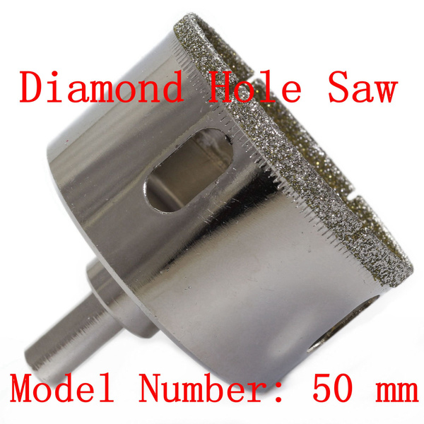 50 mm 2 inch diamond hole saw granite drill bit coated masonry drilling cutter tools for stone marble glass ceramic tile rock wish