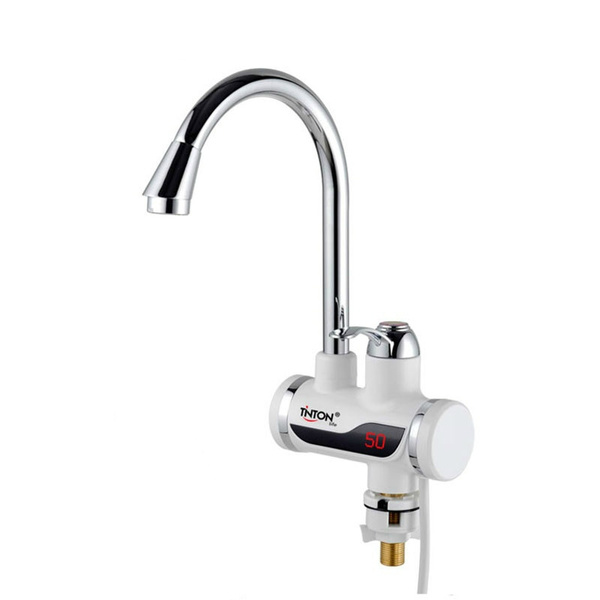 tintonlife tankless instant faucet water heater instant water heater tap kitchen hot water crane led digital us eu plug wish