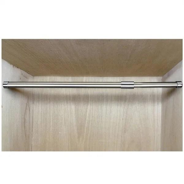 retractable adjustable stainless steel clothes hanging rod pole post shelf closet hanger organizer garment storage bar rack 57 103 cm wish
