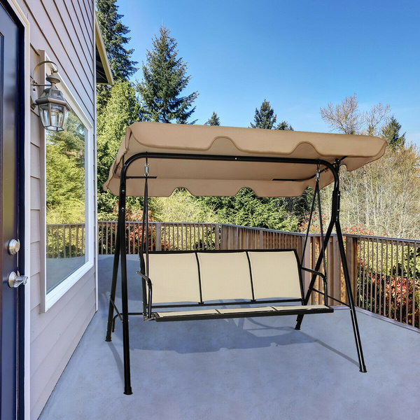 outdoor patio swing canopy 3 person canopy swing chair patio hammock wish