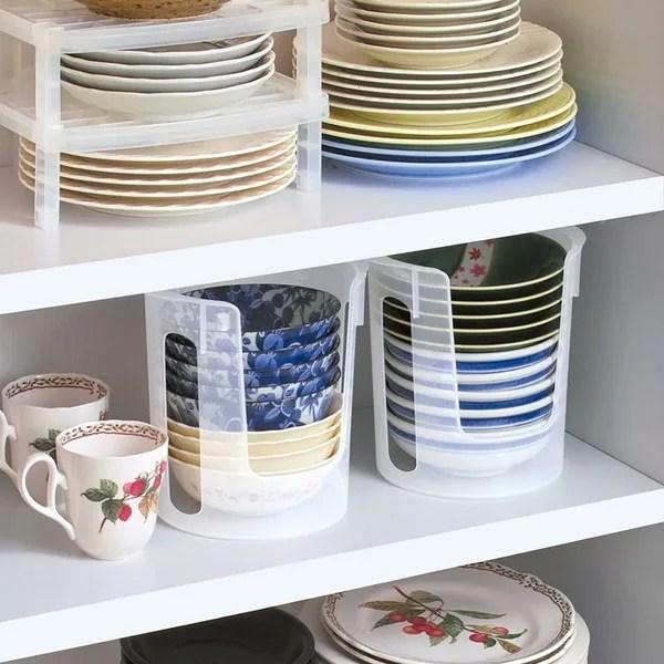 stackable plate multifunction kitchen bowl dish rack shelf organizer plate dish organizer storage holder wish