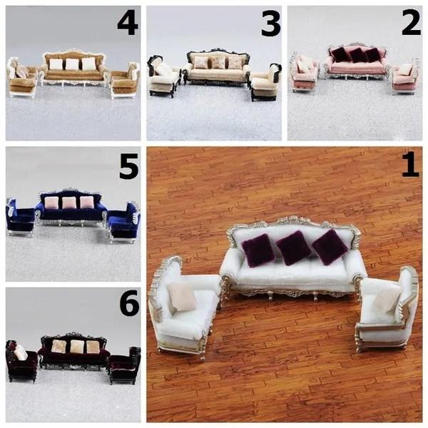 diy 1 25 dollhouse couch sofa chair cushion set miniature furniture model toys wish