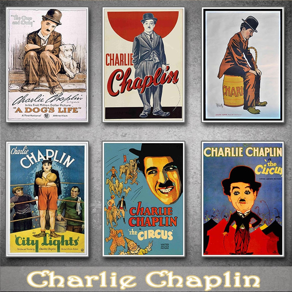 30x42cm chaplin comedy charlie chaplin white card poster film poster bar bedroom decoration coated posters wish