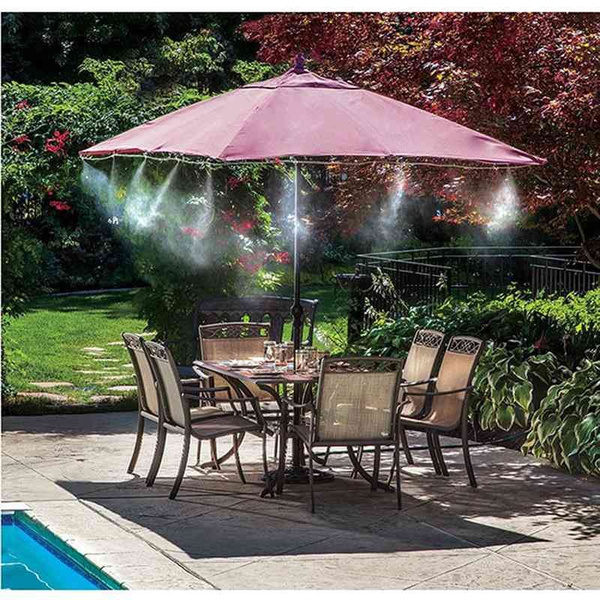 8m outdoor garden misting system fan cooler water cooling patio mist spray kit wish
