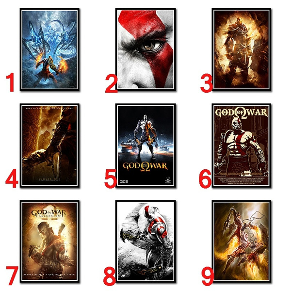 god of war ghost of sparta game poster home furnishing decoration coated paper game poster drawing core wall stickers 42 30cm wish
