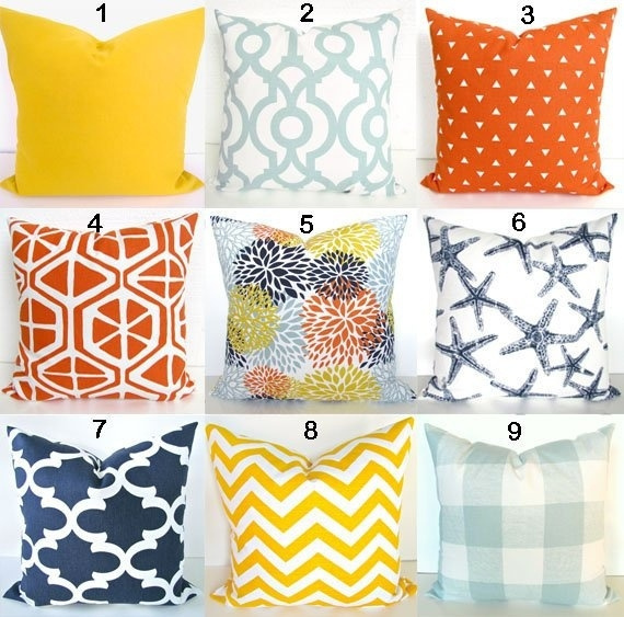 blue pillow cover orange pillows blue and orange throw pillows yellow pillow covers orange pillows floral home decor18 18 inch wish