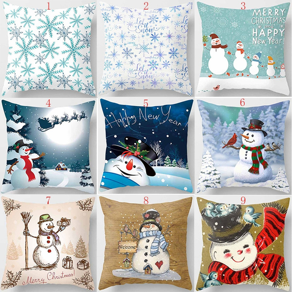 hot sale beauty christmas pillow cases two sides printing pillow cases cover snowman pillow case pillow covers size 45cm 45cm wish