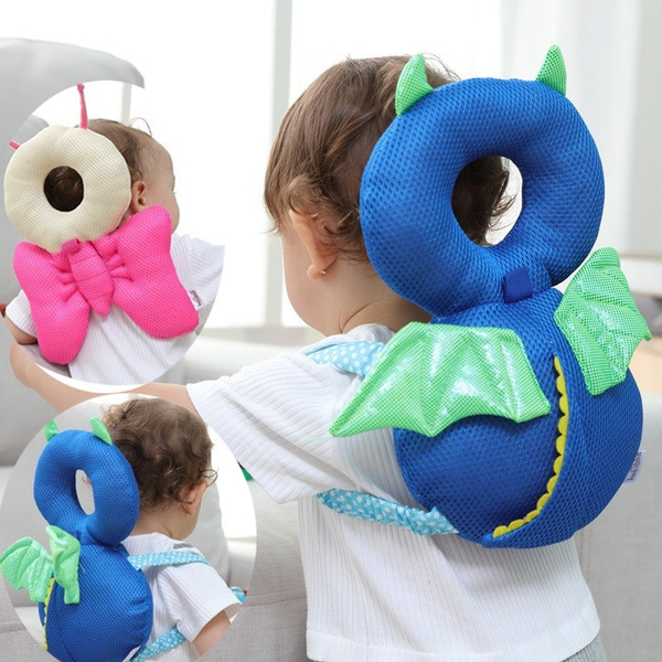 baby head protection pad toddler headrest pillow baby neck cute wings nursing drop resistance cushion backpack mat wish