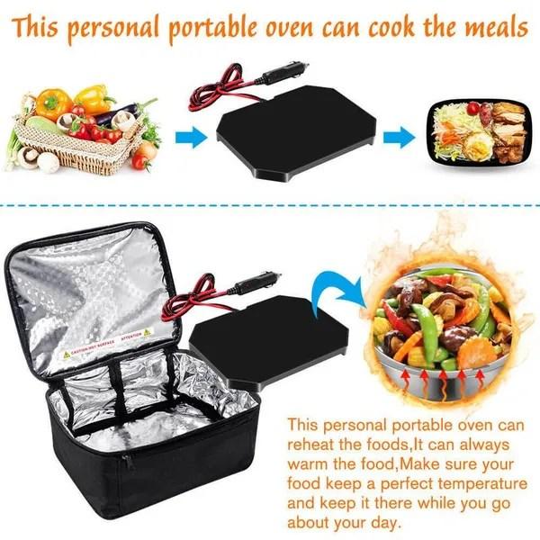 12v car truck food warmer set hot plate logic mini microwave portable electric wish