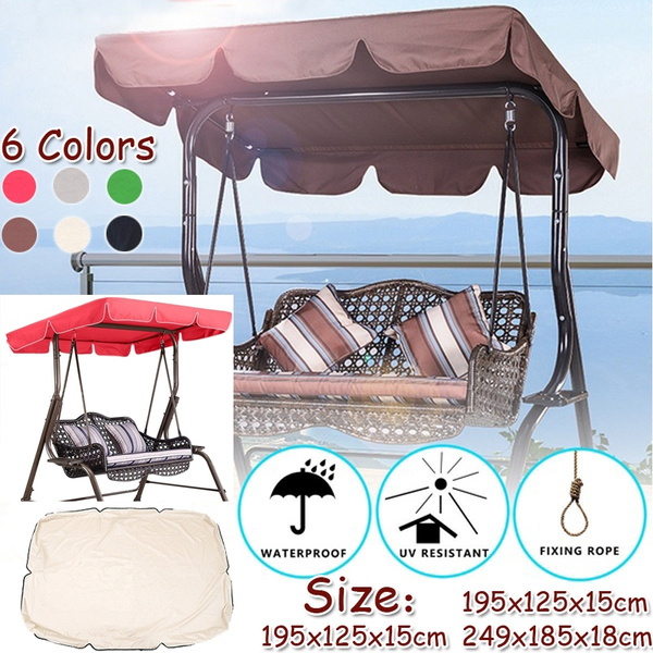 sunshade cover outdoor garden patio swing canopy seat top cover replacement uv resistant rainproof garden replacement canopy cover for patio outdoor 3