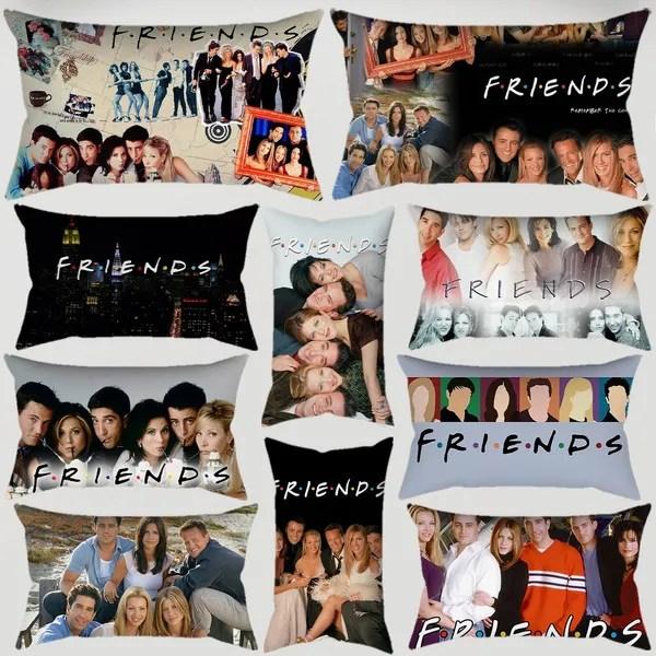 1pc popular tv friends print pillowcase car sofa waist cushions kissen oreiller almohada pillow sofa car bed sofa pillow case bedroom decoration