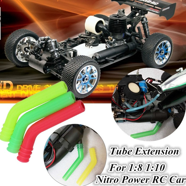 extension silicone tube for hsp traxxas hpi 1 10 1 8 nitro rc car exhaust pipe zex wish