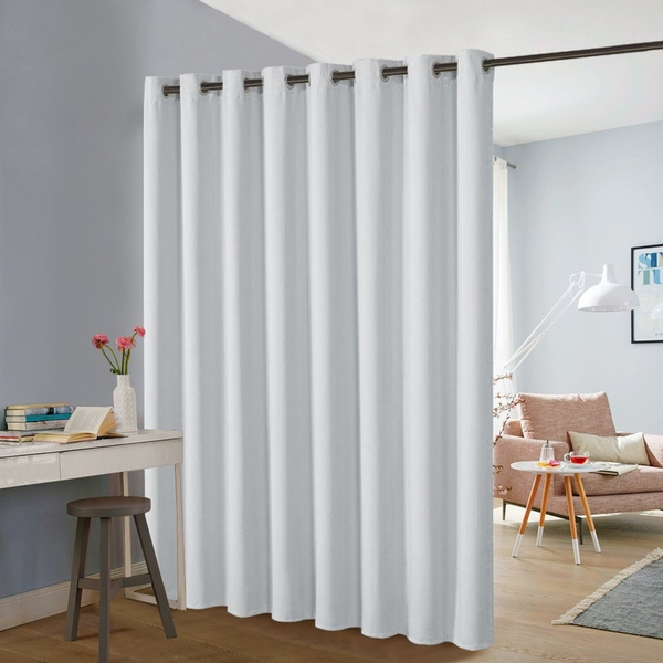 1 pack room divider partitions curtain window treament screen extra wide grommet blackout curtain panel privacy protect for home decor office loft