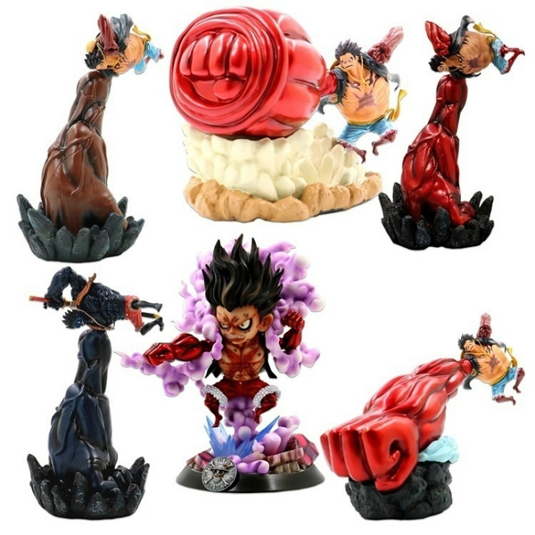 Luffy in gear fourth form! One Piece Monkey D Luffy Gear 4 Fourth Snakeman Giant Hand Form Luffy Gk Figure Statue Collection Model Wish