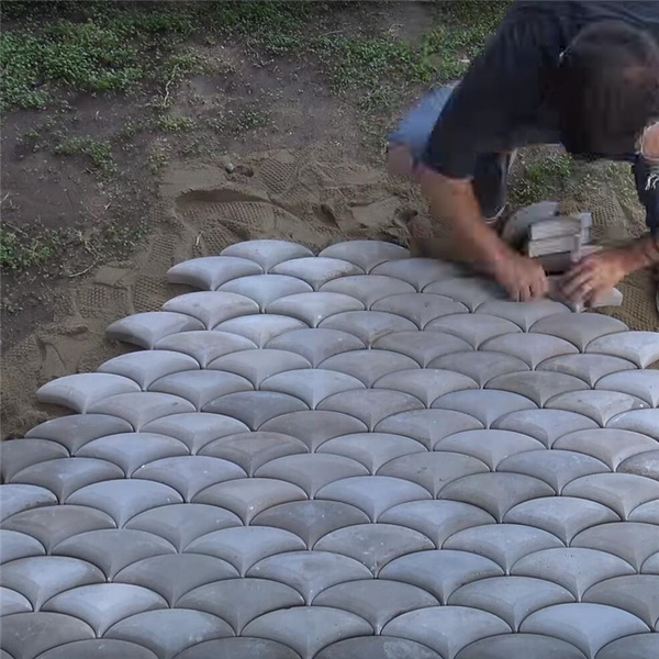 diy fish dragon skin patio pavers silicone molds concrete beton cement stepping stone mold wish