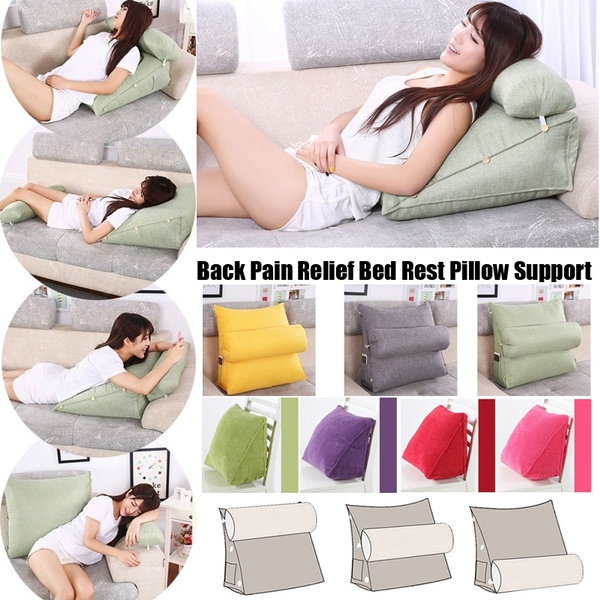 bed rest back pillow support back pain relief pillow back rest seat soft sofa home decor living room cushion wish