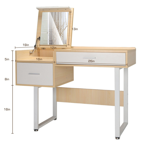 multi function modern bedroom vanity set makeup table computer desk with mirror and storage stool wish